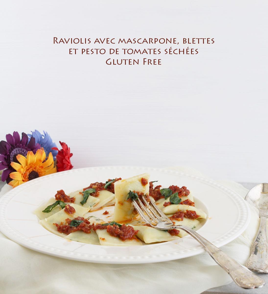 Raviolis sans gluten, avec blettes, mascarpone et tomates séchées - La Cassata Celiaca
