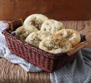 Manakish senza glutine con za'atar - La Cassata Celiaca
