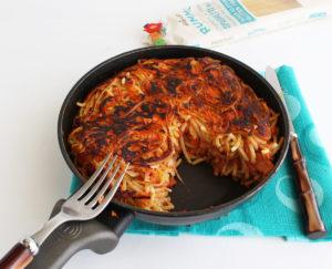 Omelette de pâtes sans gluten - La Cassata Celiaca