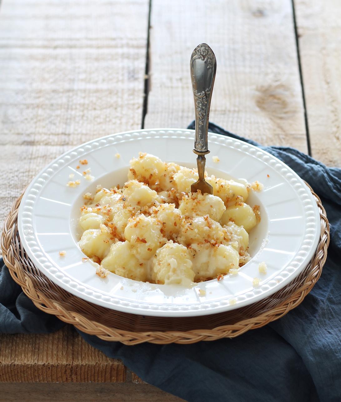 Gnocchis sans gluten avec crème de fromage pecorino - La Cassata Celiaca