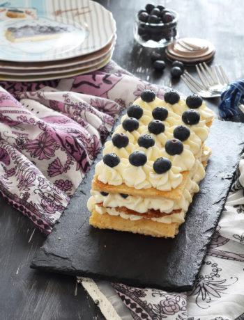 Millefoglie senza glutine con crema e mirtilli - La Cassata Celiaca