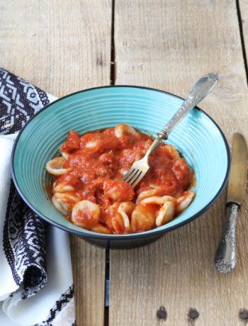 Orecchiette sans gluten et sa sauce de scamorza et saucisson - La Cassata Celiaca