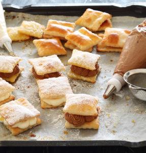 Feuilletés sucrés sans gluten à la crème - La Cassata Celiaca
