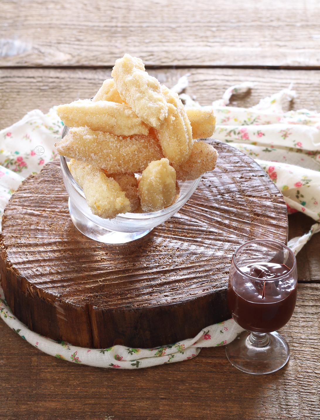 Churros senza glutine e senza uova - La Cassata Celiaca