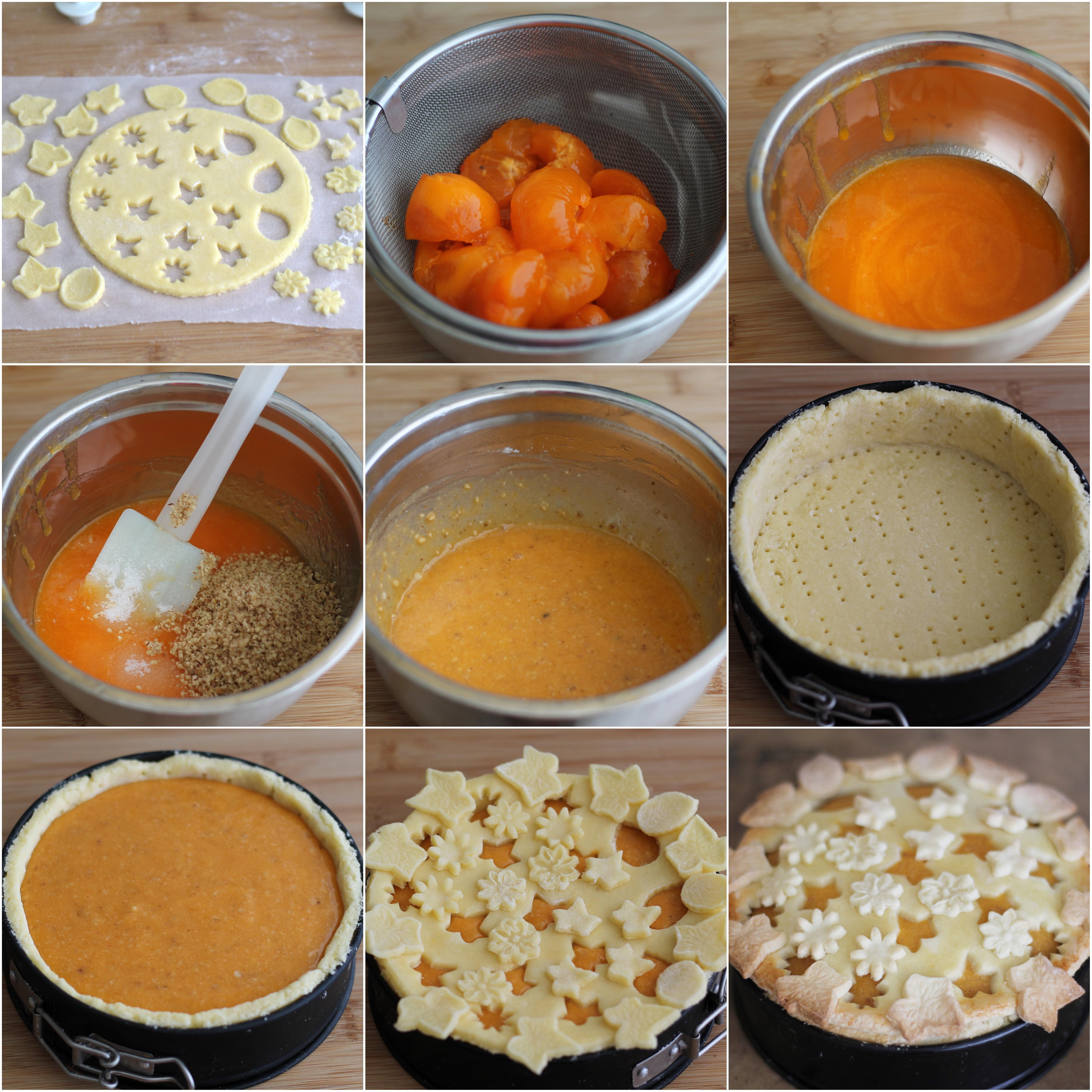 Tarte sans gluten avec kaki et noix - La Cassata Celiaca
