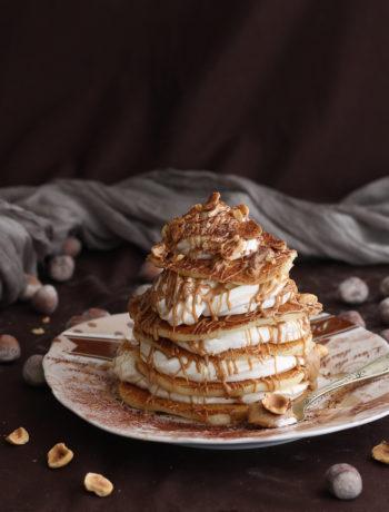 Pancakes senza glutine con panna e crema alle nocciole - La Cassata Celiaca