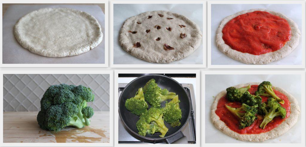 Pizza rustique aux brocolis sans gluten - La Cassata Celiaca