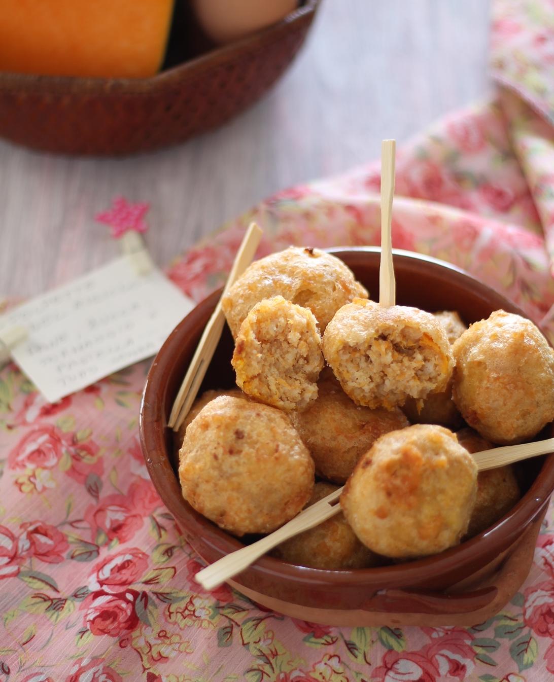 Polpette di pane e zucca in pastella senza glutine - La Cassata Celiaca