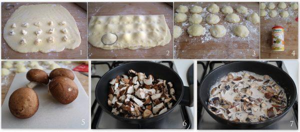 Raviolis de pommes de terre avec champignons sans gluten- La Cassata Celiaca