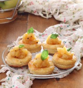 Vol au vent sans gluten avec compote de pommes épicée - La Cassata Celiaca