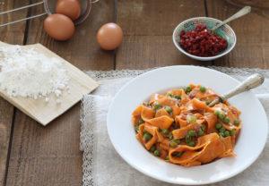 Tagliatelle rosse all'uovo senza glutine - La Cassata Celiaca