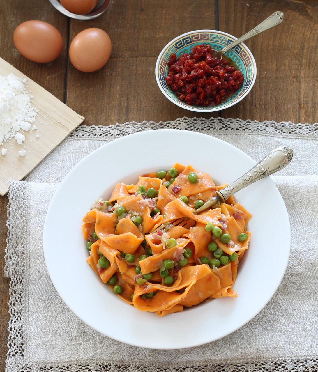 Tagliatelles rouges aux œufs sans gluten - La Cassata Celiaca