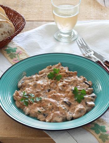Manzo alla Stroganoff senza glutine - La Cassata Celiaca