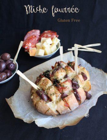 Miche fourrée sans gluten- La Cassata Celiaca