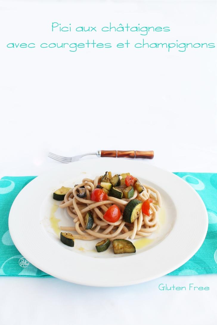 Pici aux châtaignes avec courgettes et champignons - La Cassata