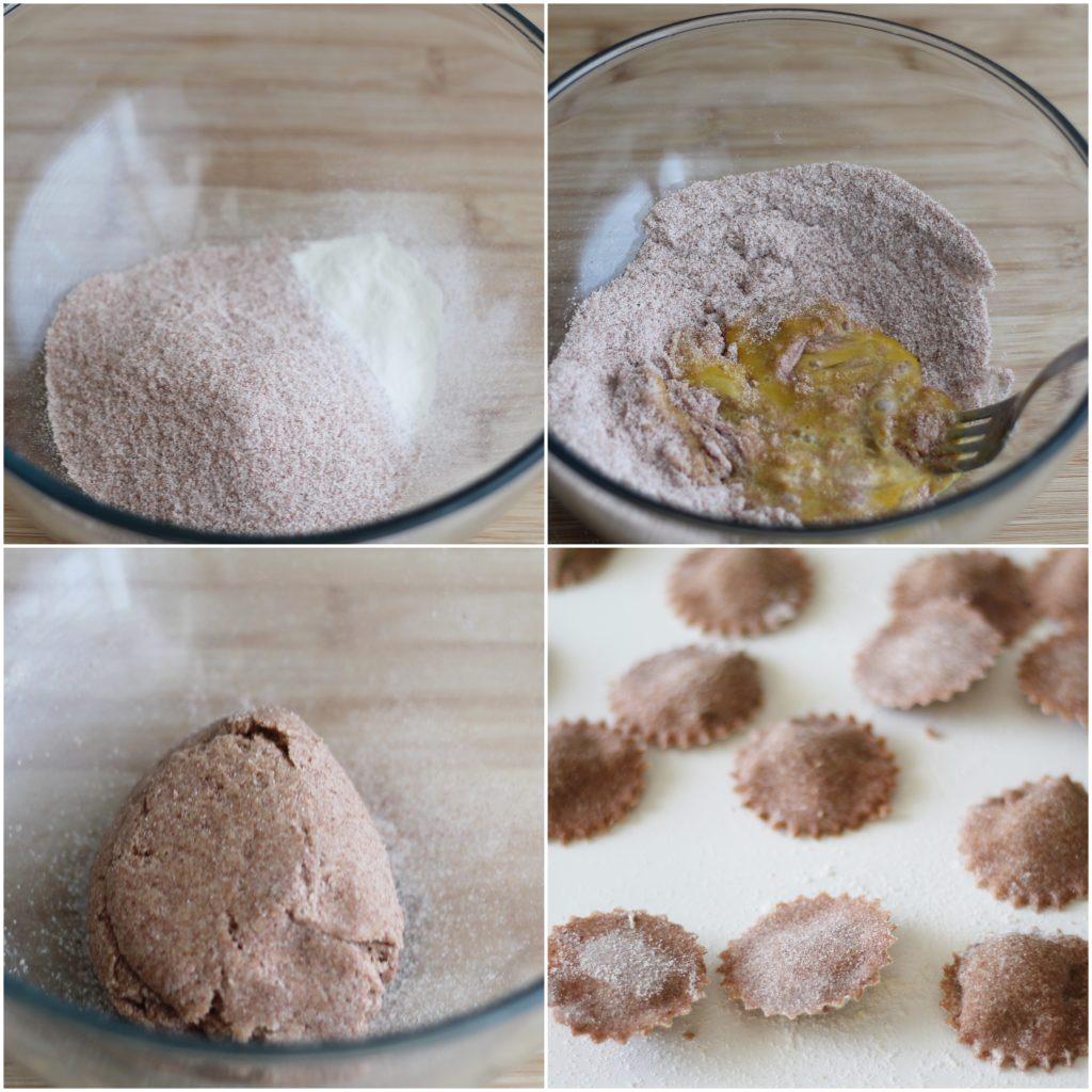 Raviolis avec farine de riz rouge sans gluten - La Cassata Celiaca