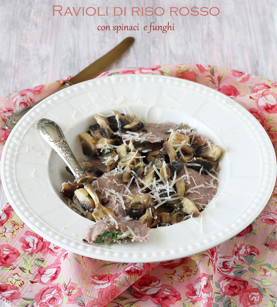 Ravioli con farina di riso rosso senza glutine - La Cassata Celiaca