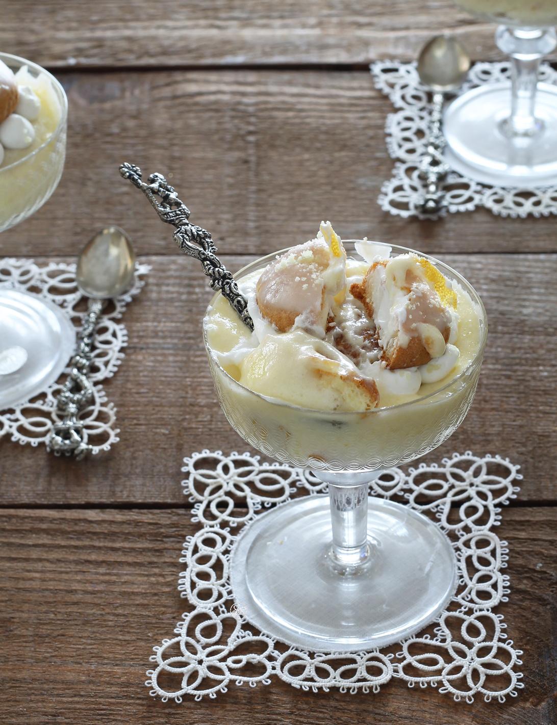 Bignè al limone senza glutine in coppa - La Cassata Celiaca