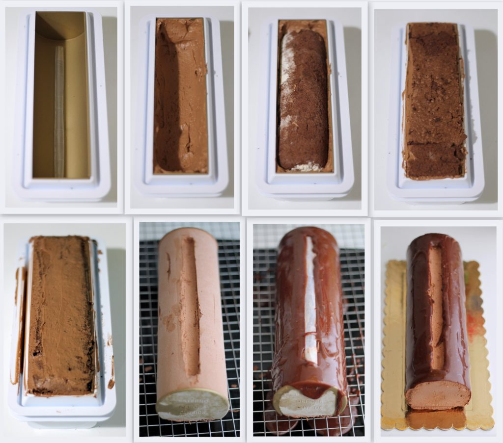 Bûche chocolat praliné sans gluten - La Cassata Celiaca