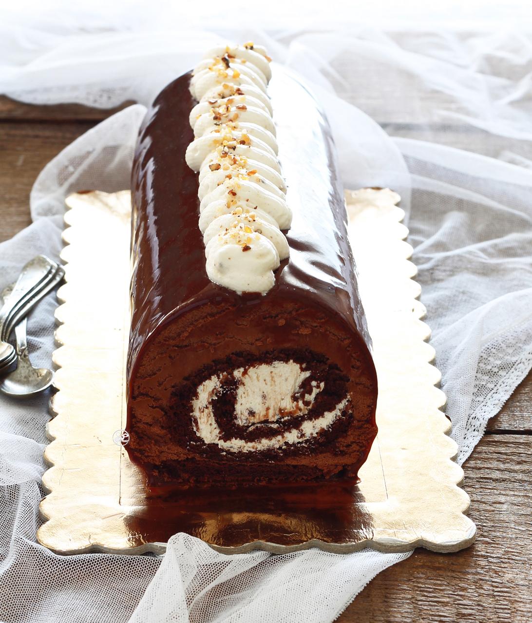 Tronchetto cioccolato pralinato senza glutine - La Cassata Celiaca