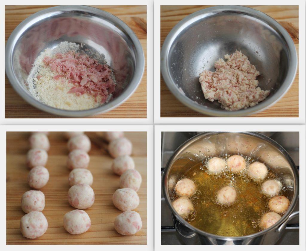 Frittelline al formaggio e prosciutto - La Cassata Celiaca
