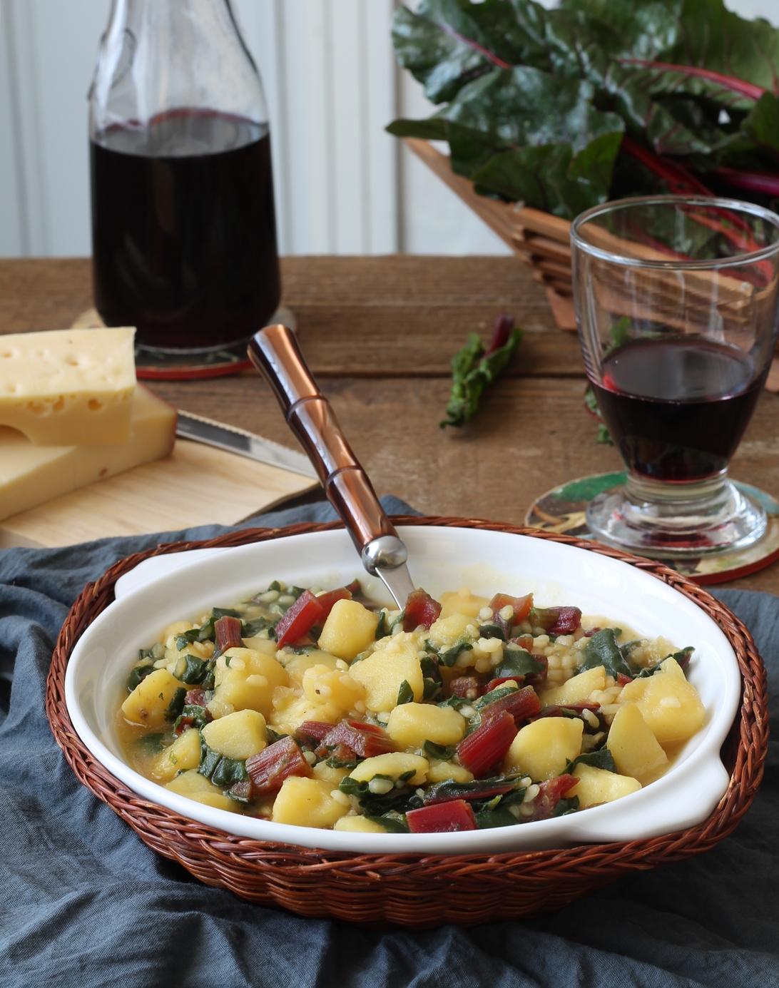 Minestra di riso, patate e bietole rosse -La Cassata Celiaca
