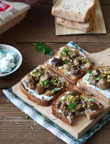 Bruschetta senza glutine e senza lattosio con funghi porcini - La Cassata Celiaca
