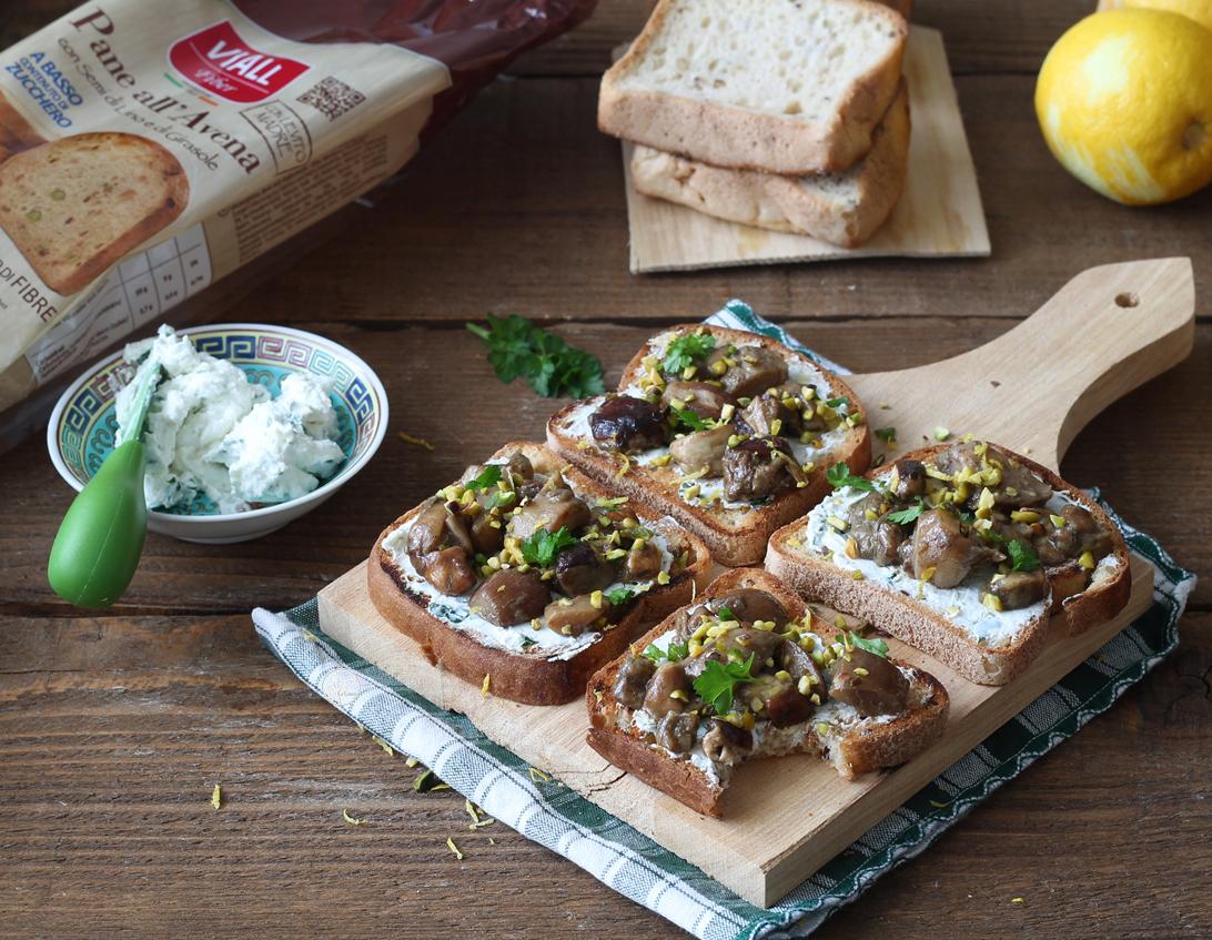 Bruschetta sans gluten et sans lactose aux cèpes - La Cassata Celiaca