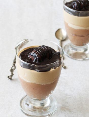 Mousse au chocolat et café sans gluten en verrines - La Cassata Celiaca