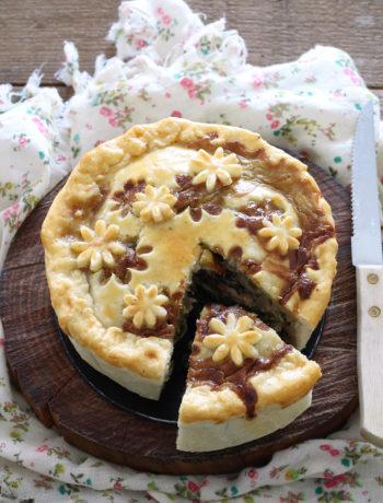 Torta salata senza glutine con scarola e funghi porcini - La Cassata Celiaca