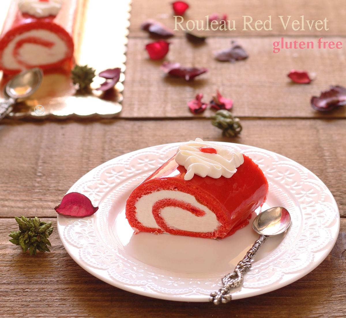 Red velvet cake roll sans gluten - La Cassata Celiaca