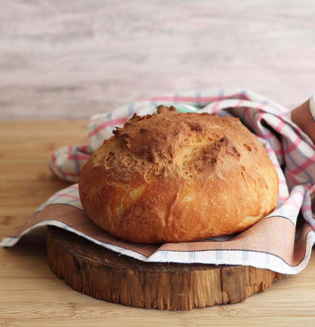 Miche de pain sans gluten et sans mix du commerce - La Cassata Celiaca