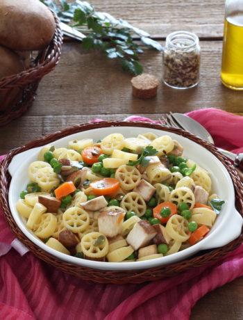 Salade de pâtes sans gluten avec champignons - La Cassata Celiaca
