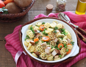 Ruote di pasta senza glutine con funghi e pisellini - La Cassata Celiaca