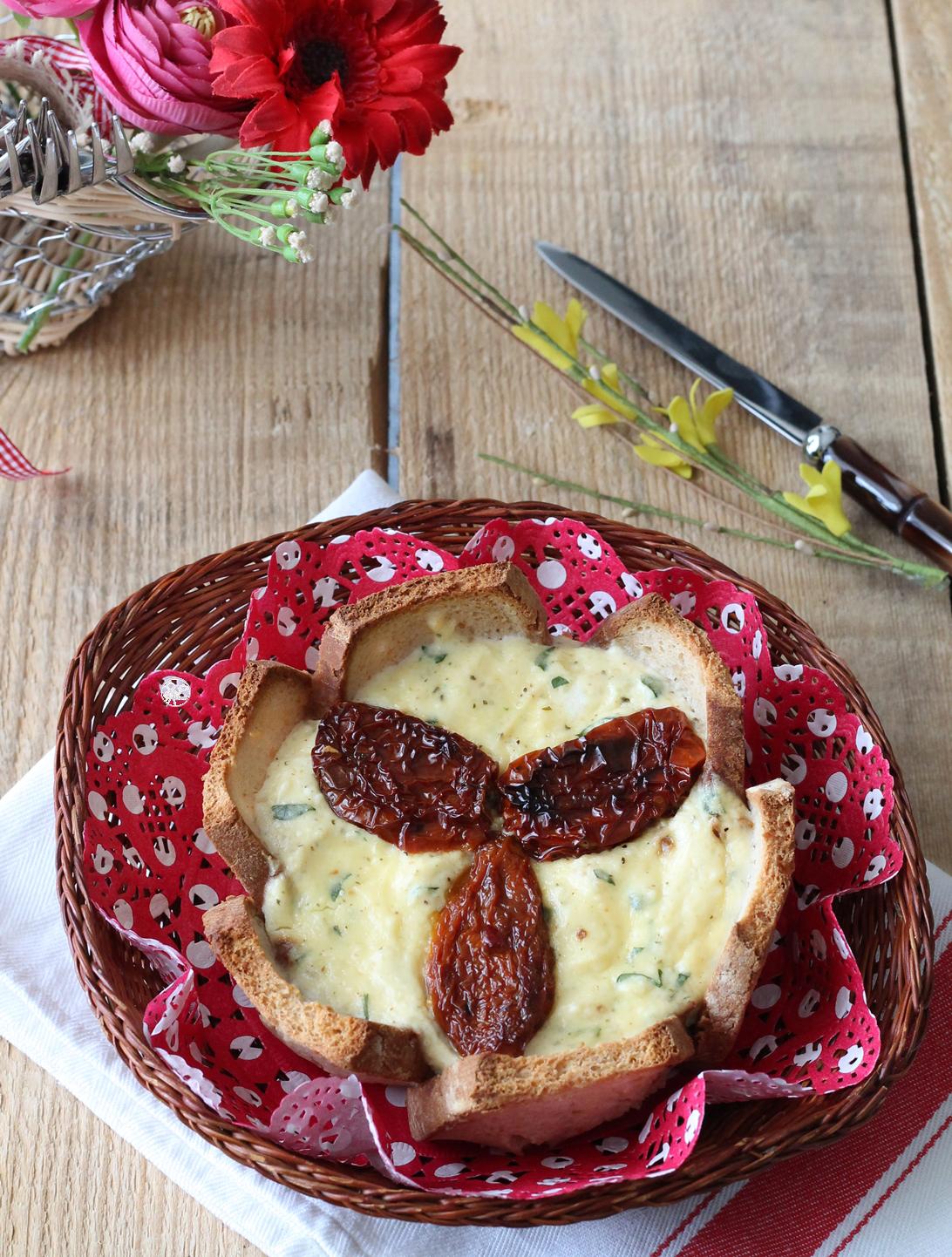 Torta salata senza glutine di pane e ricotta - La Cassata Celiaca