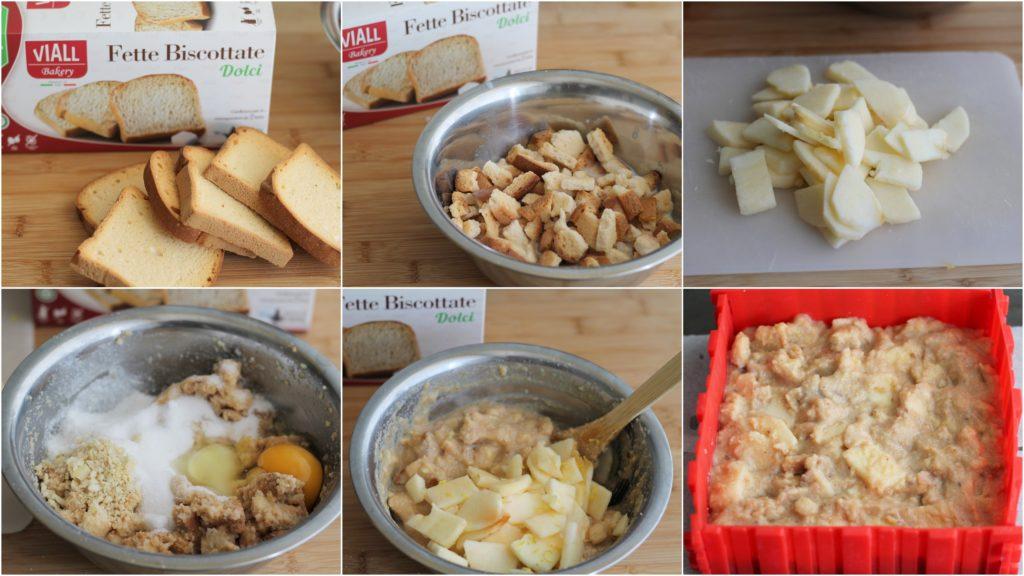 Cake sans gluten aux biscottes et pommes - La Cassata Celiaca