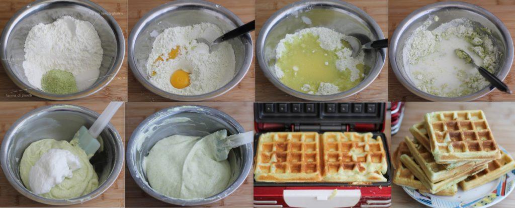 Impasto per gaufre senza glutine con farina di piselli - La Cassata Celiaca