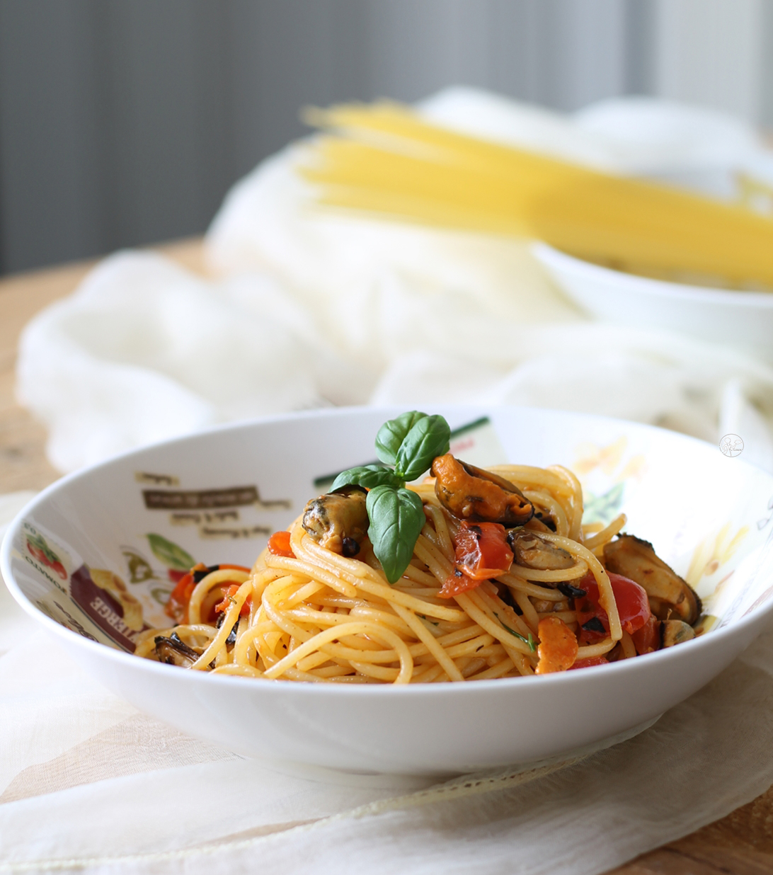 Pasta con cozze e pomodorini - La Cassata Celiaca