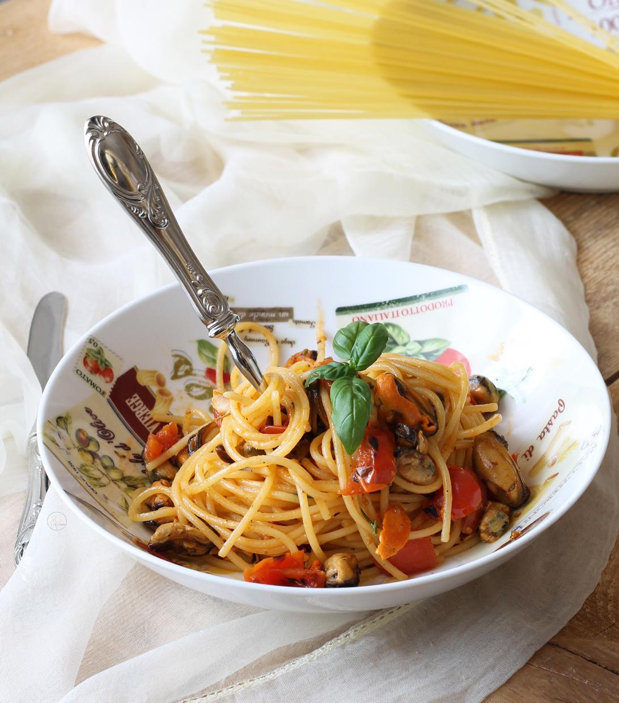 Pasta senza glutine con cozze e pomodorini - La Cassata Celiaca