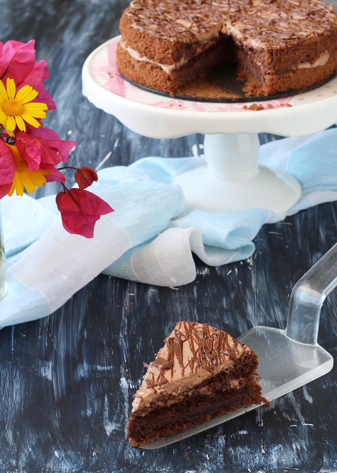 Gâteau à la crème fraîche et au cacao sans gluten - La Cassata Celiaca