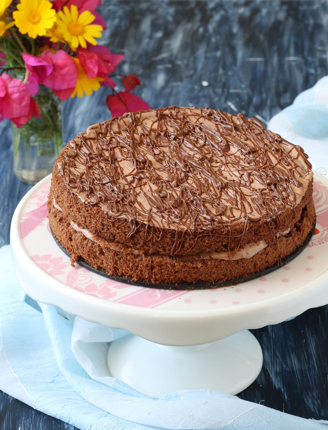 Torta alla panna montata e cacao senza glutine - La Cassata Celiaca