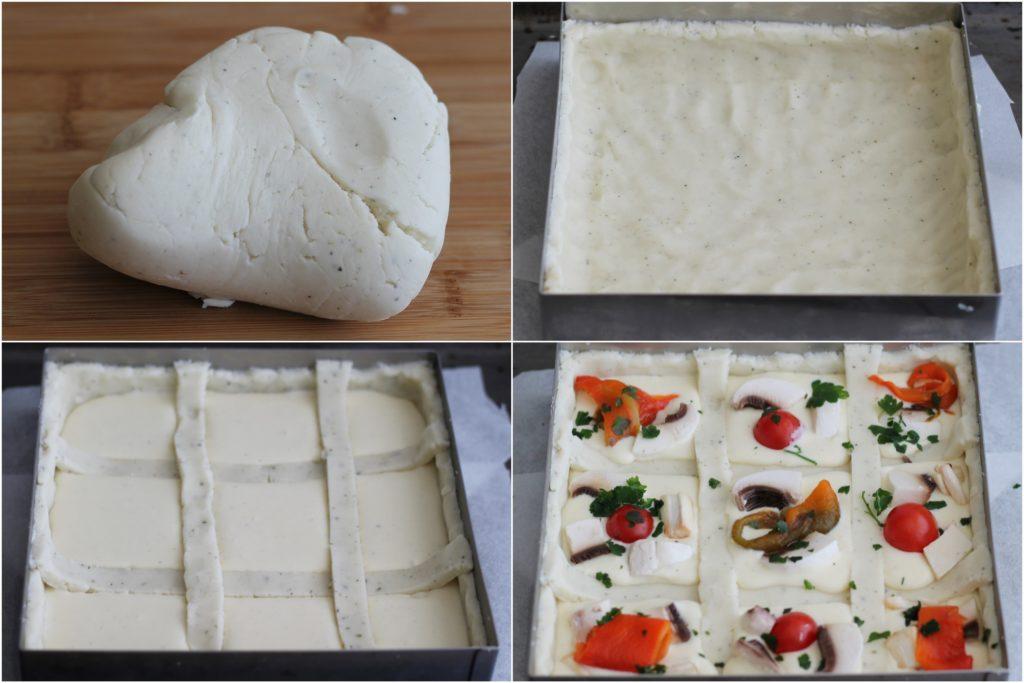 Tarte salée sans gluten avec poivrons et champignons -La Cassata Celiaca