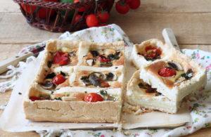 Crostata salata gluten free con peperoni e funghi - La Cassata Celiaca