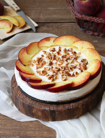 Cheesecake sans gluten à la pêche - La Cassata Celiaca