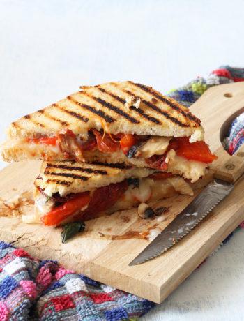 Croque-monsieur senza glutine con caprino e peperoni-La Cassata Celiaca