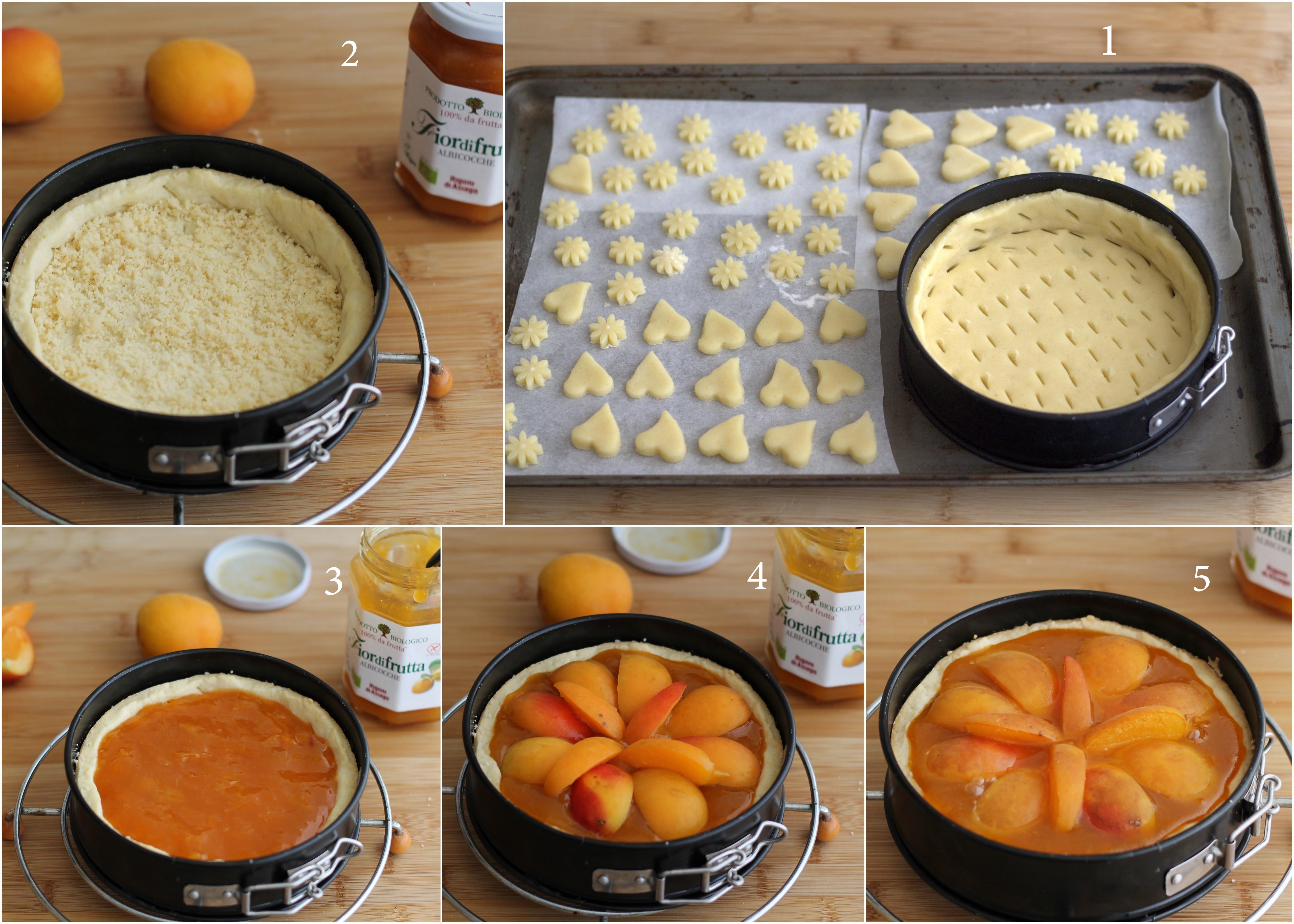 Crostata senza glutine alle albicocche - La Cassata Celiaca