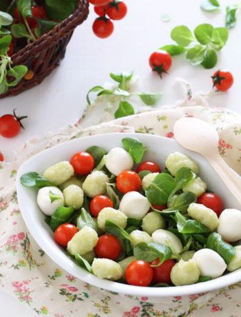 Salade de gnocchis verts sans gluten - La Cassata Celiaca