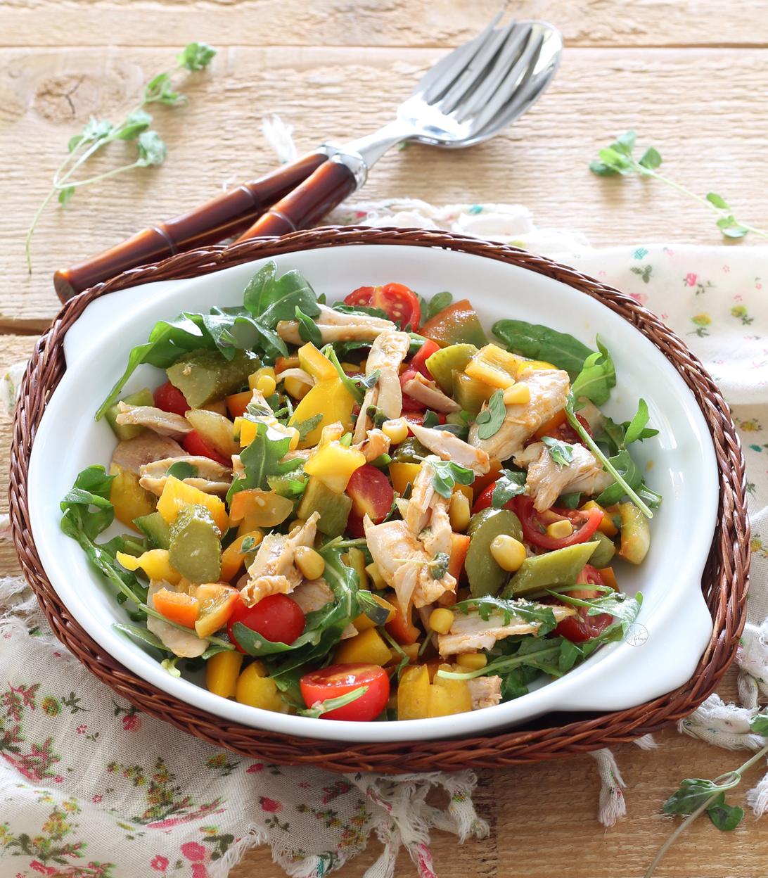 Salade de poulet sans gluten - La Cassata Celiaca