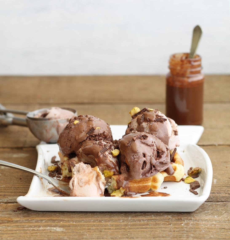 Waffel dolce con gelato senza glutine - La Cassata Celiaca