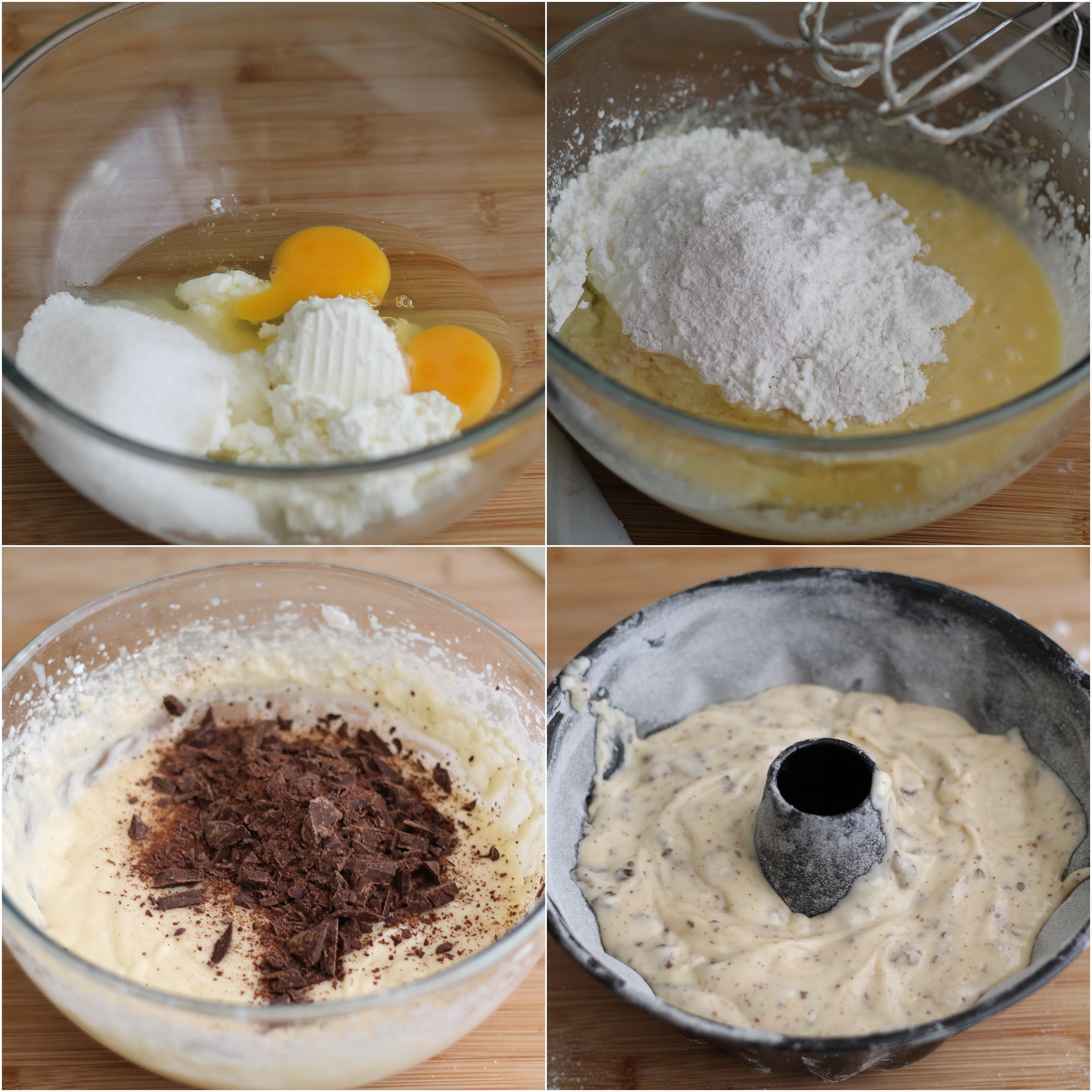Ciambella alla ricotta e cioccolato senza glutine - La Cassata Celiaca